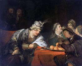 The Banquet of Ahasuerus, 1680s by Aert de Gelder | Painting Reproduction