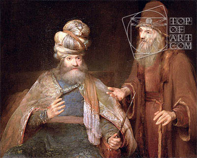 Nathan admonishes King David, 1683 | Aert de Gelder| Painting Reproduction