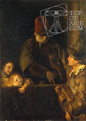 Wandering Musician, c.1690 | Aert de Gelder | Painting Reproduction