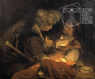 Judah and Tamar, c.1700 | Aert de Gelder | Gemälde Reproduktion