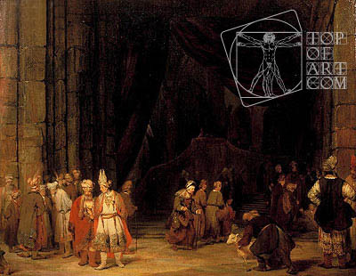 The Forecourt of the Temple, 1679 | Aert de Gelder | Gemälde Reproduktion