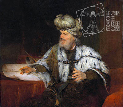 King David, 1685 | Aert de Gelder | Gemälde Reproduktion