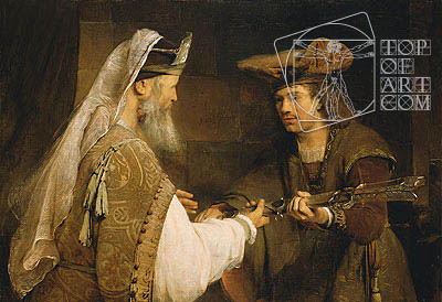 Ahimelech Giving the Sword of Goliath to David, c.1680 | Aert de Gelder| Painting Reproduction