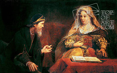 Esther and Mordechai, 1685 | Aert de Gelder | Gemälde Reproduktion
