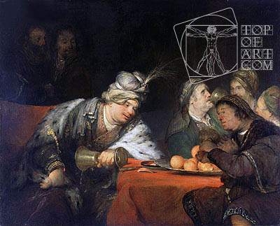 The Banquet of Ahasuerus, 1680s | Aert de Gelder | Painting Reproduction