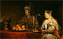 Haman and Ahasuerus at the Feast of Esther | Aert de Gelder