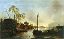 Beside a Canal in Holland | Aert van der Neer