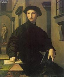 Portrait of Ugolino Martelli, c.1537/39 von Bronzino | Gemälde-Reproduktion