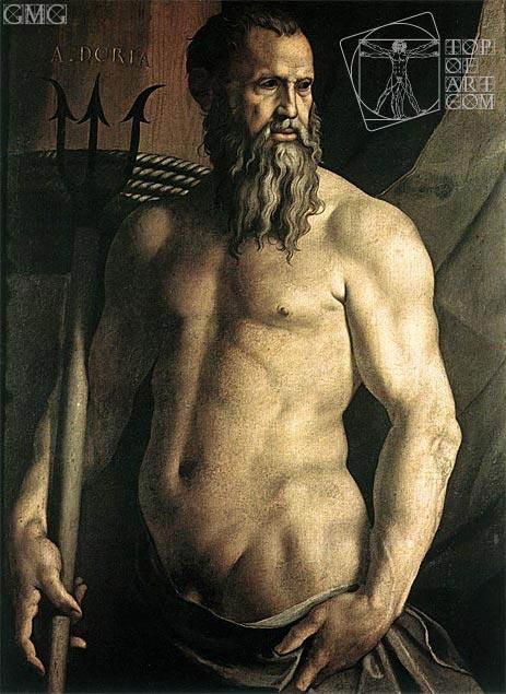 Bronzino | Portrait of Andrea Doria as Neptune, c.1540/50