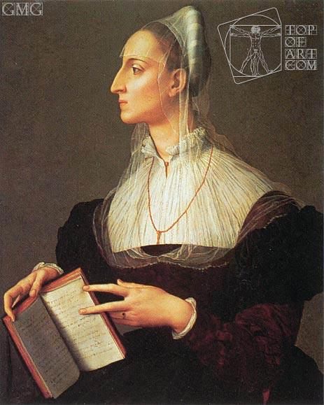 Bronzino | Portrait of Laura Battiferri, c.1555/60
