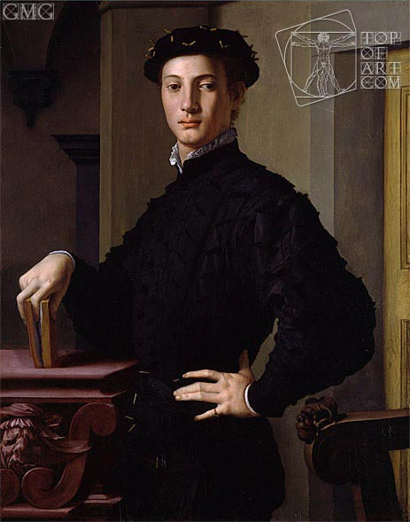 Portrait of a Young Man, c.1540 | Bronzino | Painting Reproduction