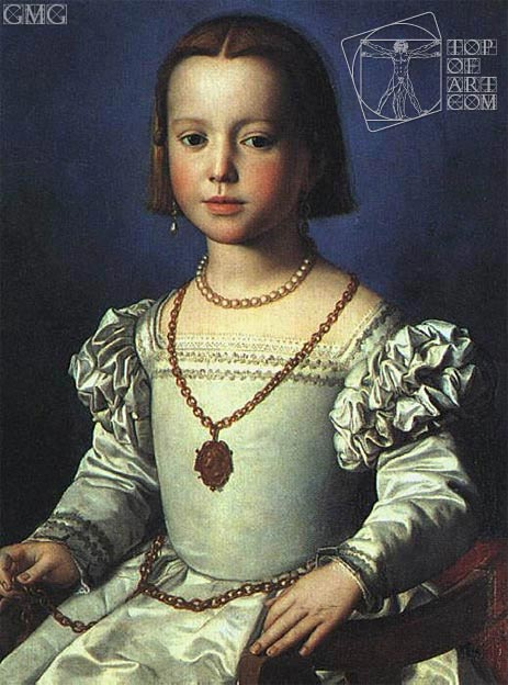 Bia, Illegitimate Daughter of Cosimo I de' Medici, c.1542 | Bronzino | Painting Reproduction