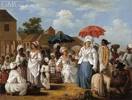 The Linen Market, Santo Domingo, c.1775 by Agostino Brunias | Painting Reproduction