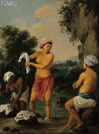 Three Caribbean Washerwomen by a River, c.1770/80 von Agostino Brunias | Gemälde-Reproduktion
