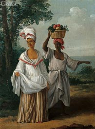 Two Caribbean Women Returning from the Market, c.1770/80 von Agostino Brunias | Gemälde-Reproduktion