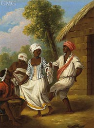The Handkerchief Dance, c.1770/80 by Agostino Brunias | Painting Reproduction