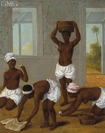 Caribbean Indian Woman in an Interior, St. Vincent, c.1770/80 von Agostino Brunias | Gemälde-Reproduktion
