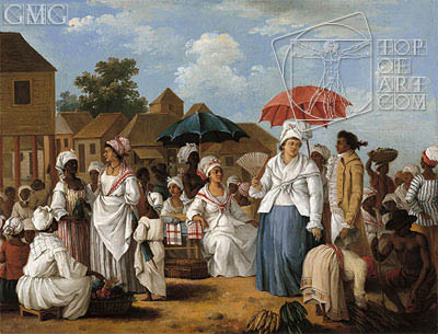 Agostino Brunias | The Linen Market, Santo Domingo, c.1775