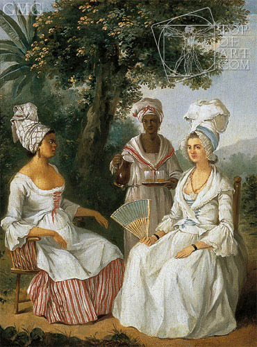 Creole Woman and Servants, c.1770/80 | Agostino Brunias | Painting Reproduction
