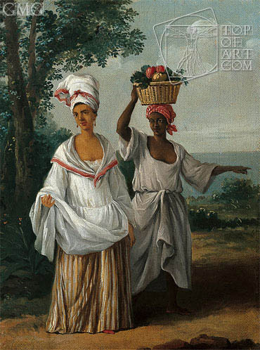 Agostino Brunias | Two Caribbean Women Returning from the Market, c.1770/80