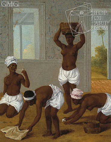 Agostino Brunias | Caribbean Indian Woman in an Interior, St. Vincent, c.1770/80
