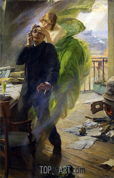 Albert Maignan | Green Muse, 1895