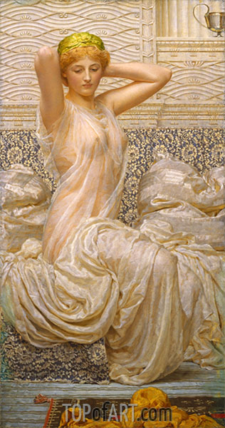 Silver, undated | Albert Joseph Moore | Painting Reproduction