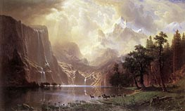 Among the Sierra Nevada Mountains, California, 1868 by Bierstadt | Painting Reproduction
