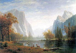 Yosemite Valley, c.1863/75 by Bierstadt | Painting Reproduction