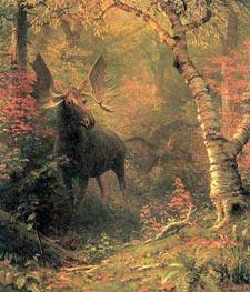 Moose, After 1880 von Bierstadt | Gemälde-Reproduktion