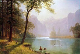 Kern River Valley California, 1871 by Bierstadt | Painting Reproduction