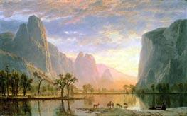 Tal des Yosemite, 1864 von Bierstadt | Gemälde-Reproduktion