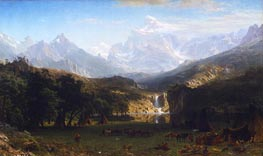 The Rocky Mountains, Lander's Peak, 1863 by Bierstadt | Painting Reproduction