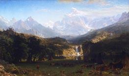 The Rocky Mountains, Lander's Peak, 1863 von Bierstadt | Gemälde-Reproduktion