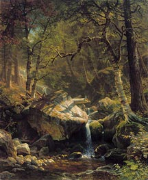 Mountain Brook, 1863 by Bierstadt | Painting Reproduction
