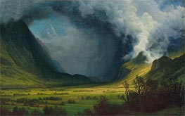 Storm in the Mountains, c.1870 by Bierstadt | Painting Reproduction