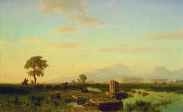 Ruins of Paestum, 1858 by Bierstadt | Painting Reproduction