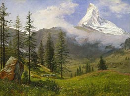 The Matterhorn, c.1867 von Bierstadt | Gemälde-Reproduktion