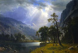 Yosemite Valley, 1866 by Bierstadt | Painting Reproduction