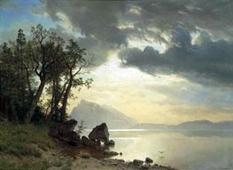 Lake Tahoe, California, 1867 by Bierstadt | Painting Reproduction