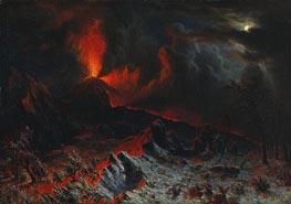 Mount Vesuvius at Midnight, 1868 von Bierstadt | Gemälde-Reproduktion