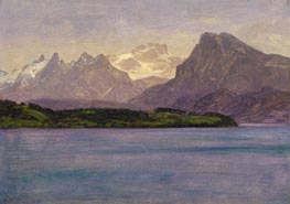 Alaskan Coast Range, c.1889 by Bierstadt | Painting Reproduction