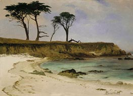 Sea Cove, c.1880/90 by Bierstadt | Painting Reproduction
