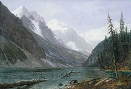 Canadian Rockies, Lake Louise, c.1889 by Bierstadt | Painting Reproduction
