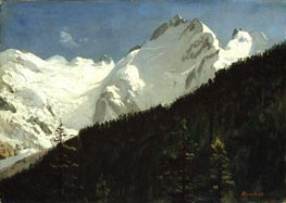 Piz Bernina, Switzerland, undated by Bierstadt | Painting Reproduction