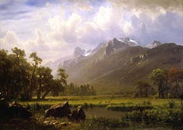 The Sierras Near Lake Tahoe, California, 1865 by Bierstadt | Painting Reproduction
