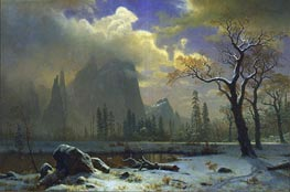 Yosemite Winter Scene, 1872 by Bierstadt | Painting Reproduction
