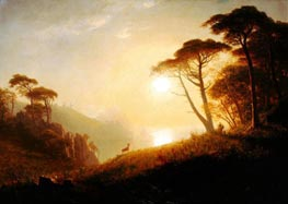Scene in Yosemite Valley, c.1864/74 by Bierstadt | Painting Reproduction
