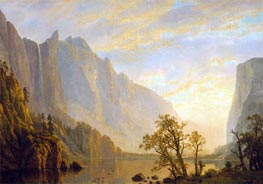Mountain Scene and River, undated by Bierstadt | Painting Reproduction