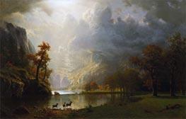 Sierra Navada Morning, undated by Bierstadt | Painting Reproduction